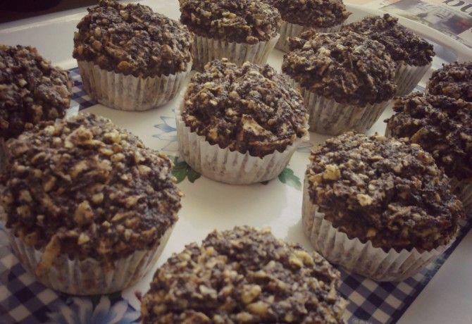 Diós-mákos-almás paleo muffin