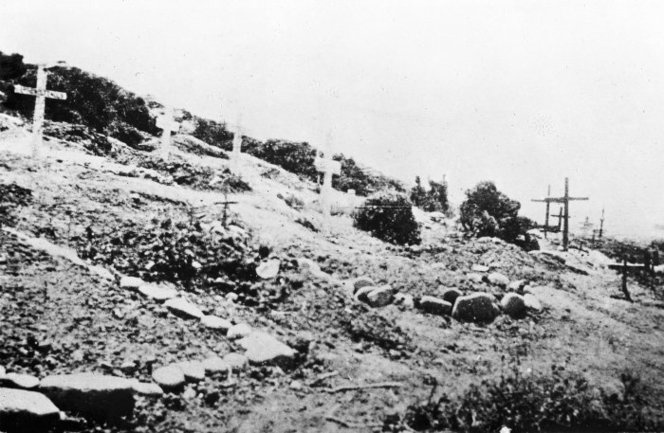 Soldiers graves, Shrapnel Gully, Gallipoli, Turkey