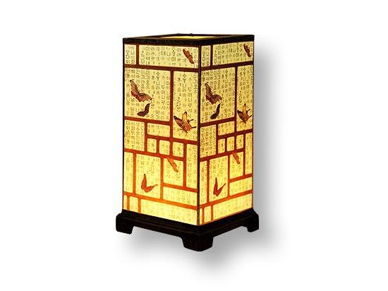 Korean paper square lamp