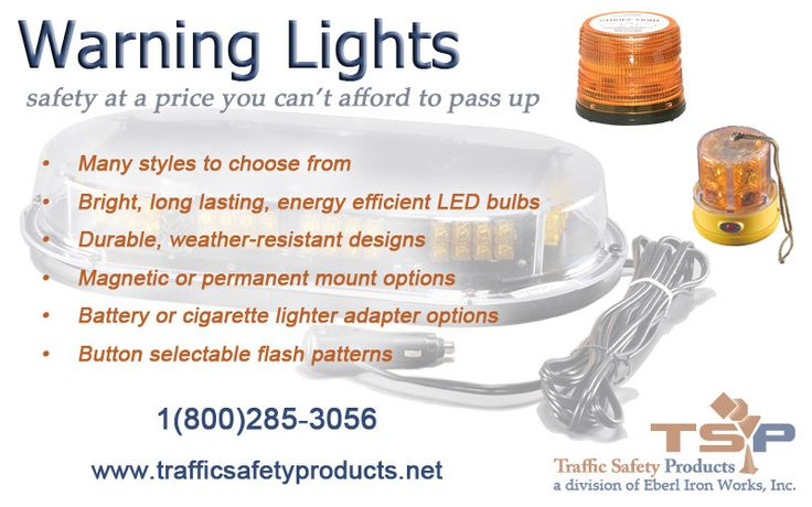 Quality safety lighting at an affordable price Warning