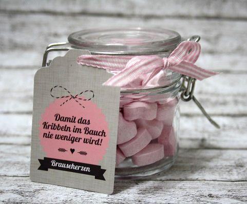"""★+Geschenkglas+""""Bauchkribbeln""""+★+Zur+Hochzeit+★+von+Kitsch'n'Story+auf+DaWanda.com"""