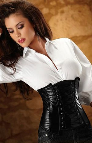Black PVC Side Zip Waist Cincher: Blouses, Sexy Corsets, Side Zip, White Shirts, Dresses Shirts, Woman Clothing, Leather Corsets, Lingerie Corsets, Waist Cincher
