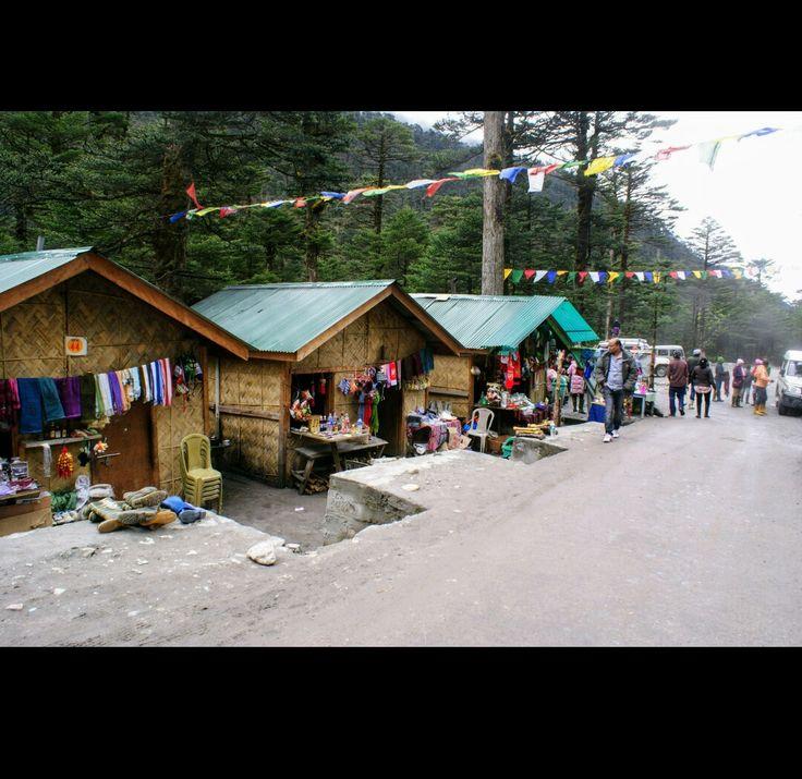 Local market shops at yumthang valley.