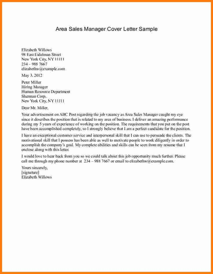 letter examples cover example sales manager free template management jobs