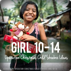 Great gift ideas for Operation Christmas Child, girls ages 10-14.
