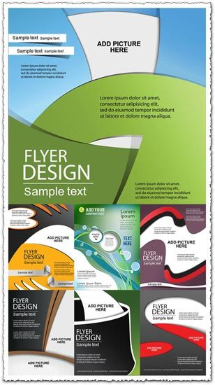 A good pack of brochures of flyers containing 7 vectors, for your daily work inspiration. These creative covers can be used for any type of business and a