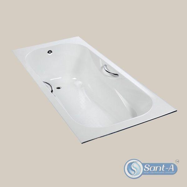 Чугунная ванна 170x75 с ножками и ручками Goldman Massi GM-MA17075 - Фото 1