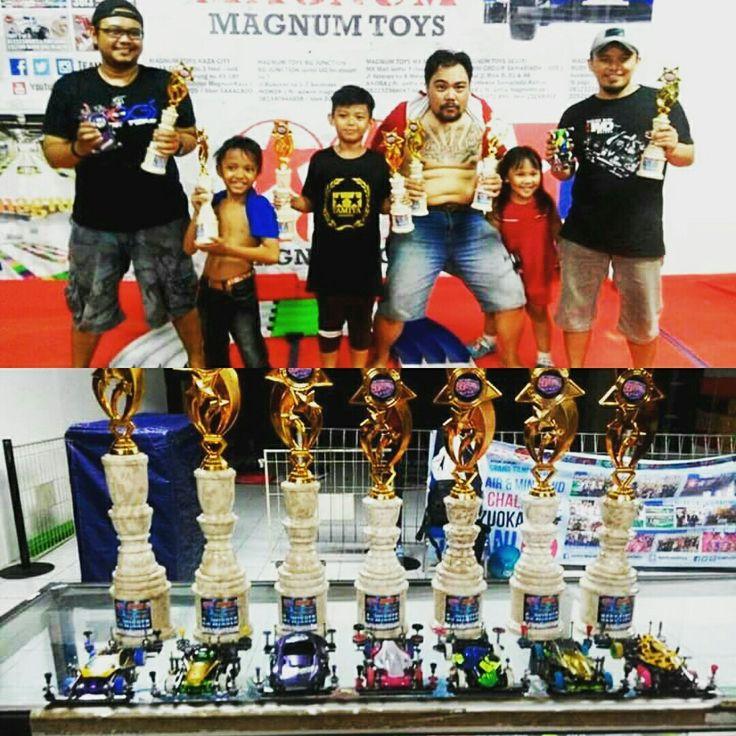 OFFICIAL FINAL RESULT INDONESIA CUP SERIES VI TOS (TAMIYA ORIGINAL SERATUS) MAGNUM  KAZA CITY SURABAYA 20-21 MEI 2017  1st PLACE WINNER>DIDIK (MOJOKERTO) La Tahzan 2nd PLACE WINNER>GALIH Dika Black Speed (MALANG) 3nd PLACE WINNER>YUDHI (SURABAYA Yudhi Kurniawan) 4th PLACE WINNER>DIDIK Garry Ishak (SURABAYA) 5th PLACE WINNER>ZAINAL (MALANG) Dkah 6th PLACE WINNER>GALIH (MALANG) Ranupane Firsthya  BTO  : GALIH (MALANG) (17.74)  CONGRATULATION FOR THE WINNERS....!!  RACE DIRECTOR MAGNUM…