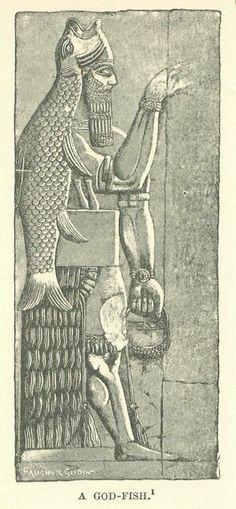 A depiction of the apkallu, Adapa, or Oannes. | The ...