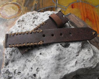 Leather watch, Apple Watch Band, Apple Watch Strap, Rustic Seiko Panerai Watch Strap, Handmade Brown Watch Band, Leather Watch Accessory