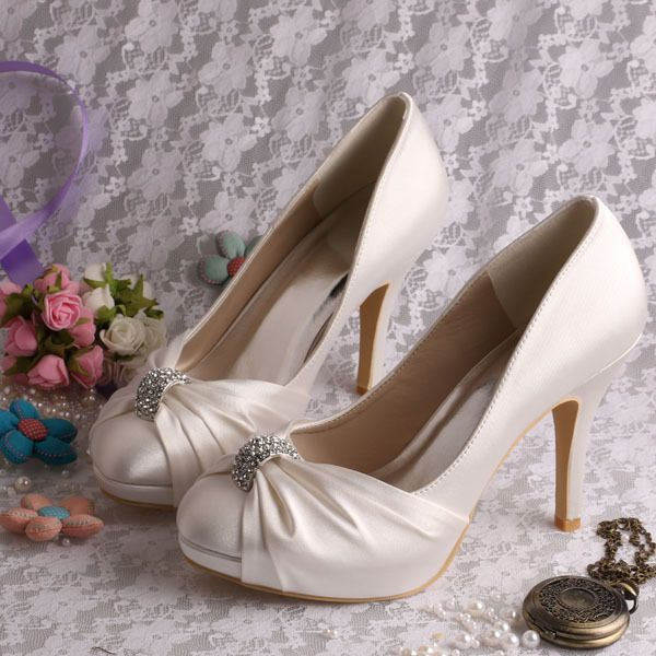 (11 Colors) Custom Handmade 2014 New Wedding Shoes for Women White FREE SHIPPING-in Pumps from Shoes on Aliexpress.com | Alibaba Group