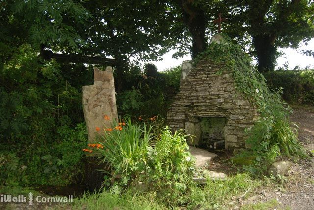 St Piran's Holy Well at Trethevy, near Tintagel, Cornwall.