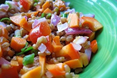 Wheatberry Salad from snack girl | Healthy Recipes | Pinterest