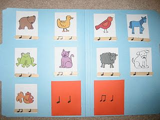 3rd grade: LOVE THIS Brown Bear rhythm matching game and the way she uses it...could coordinate with Feierabend
