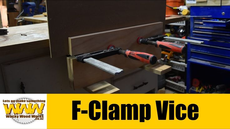 F-Clamp Vice- Off the Cuff - Wacky Wood Works.