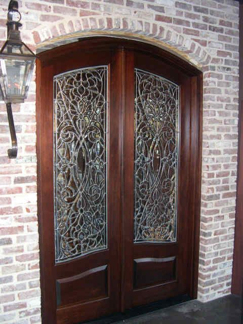 Doors by Design offers a wide selection of custom wood doors with leaded  glass.