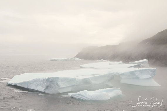 Pure-  St. Anthony, Newfoundland Iceberg  5x7  Minimal landscape of an by DreamsandNotions, $10.00