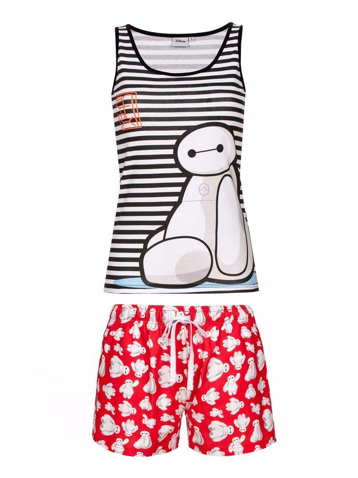 Disney Baymax Big Hero 6 Stripe Short Pyjamas
