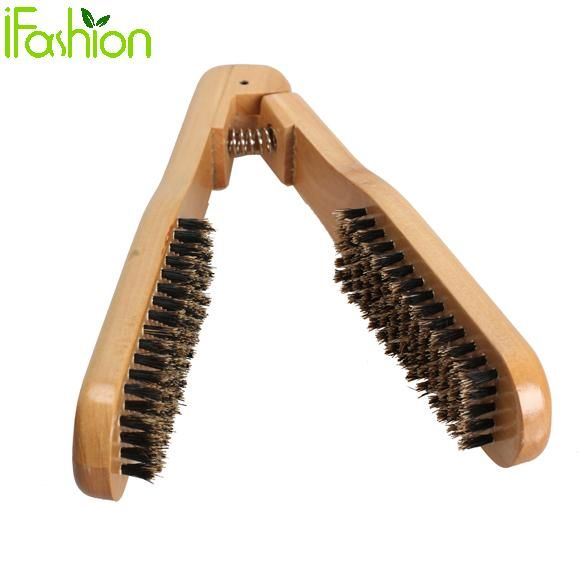 Hairdressing Hair Comb Hair Straightener Double Brushes Wooden Anti-static Dual-Brush DIY Salon Styling tools Combs Best Price