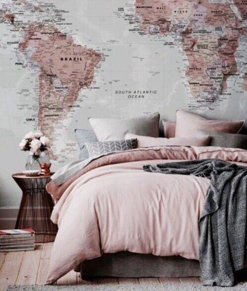 Roze grijs warme sfeer slaapkamer