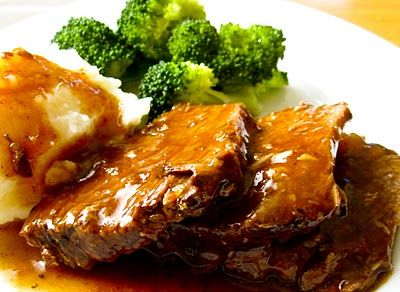Cola Pot Roast  Slow-cooked pot roast in a sweet and tangy sauce made with Cola.   – treats