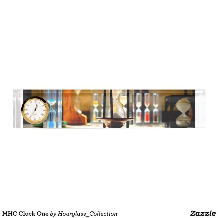 MHC Clock One Desk Name Plate