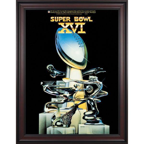 """Fanatics Authentic 1982 49ers vs. Bengals Framed 36"""" x 48"""" Canvas Super Bowl XVI Program - $299.99"""