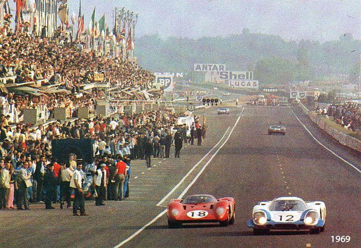 1969 Porsche 917 L and Ferrari 312 P Coupe at Le Mans