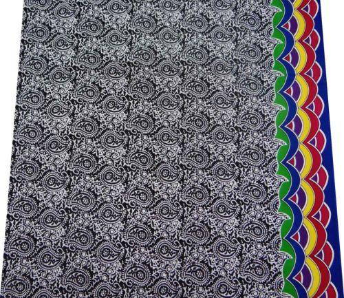 Хлопок-Пейсли-Дизайн-Вуаль-Ткань-черный-Craft-41-Одежда-платье-одежда-1-Yd