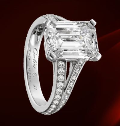 """Gorgeous Cartier ring..definitely the one I want for a """"glam"""" ring to pair with my vintage ring"""