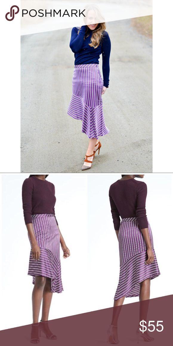 Banana Republic Stripe Asymmetrical Hem Skirt Note: PETITE! New without tags. Ha…