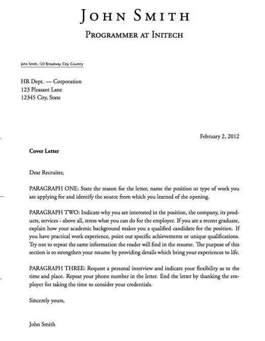 example of a cover letter. Resume Example. Resume CV Cover Letter