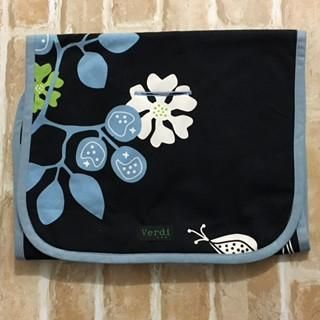 Verdi Designer Pram Stroller Liner, Washable Baby Pram Liner   Blue Floral
