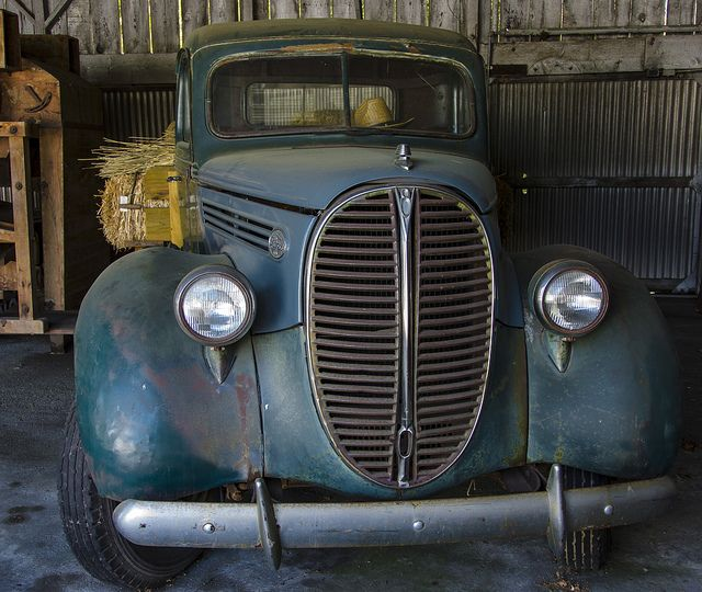 valscrapbook:    1938 Ford Truck in the Barn by rschnaible on Flickr.