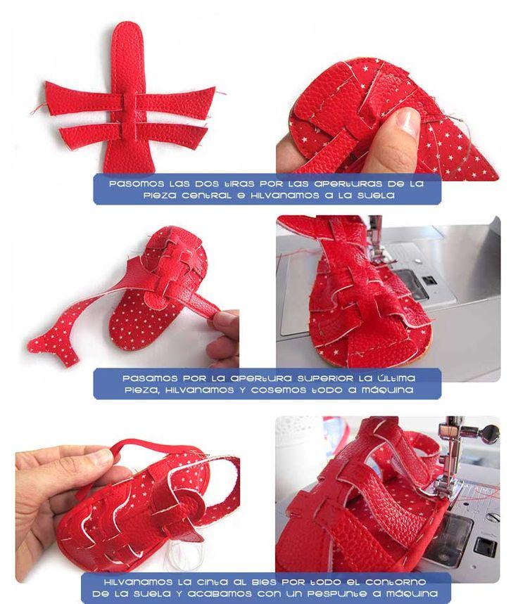 sandalias bebe DIY 6 Cómo hacer unas sandalias de bebé   DIY