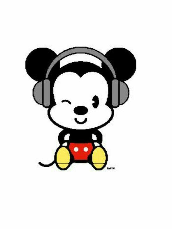 Mickey mouse simple cartoon