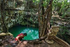 Cancun and Riviera Maya tours with visits to cenotes to swim, dive and snorkel. Learn more about the cenotes in Mexico's Yucatan Peninsula.