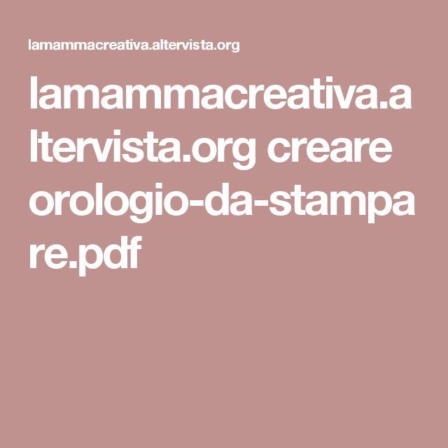 lamammacreativa.altervista.org creare orologio-da-stampare.pdf