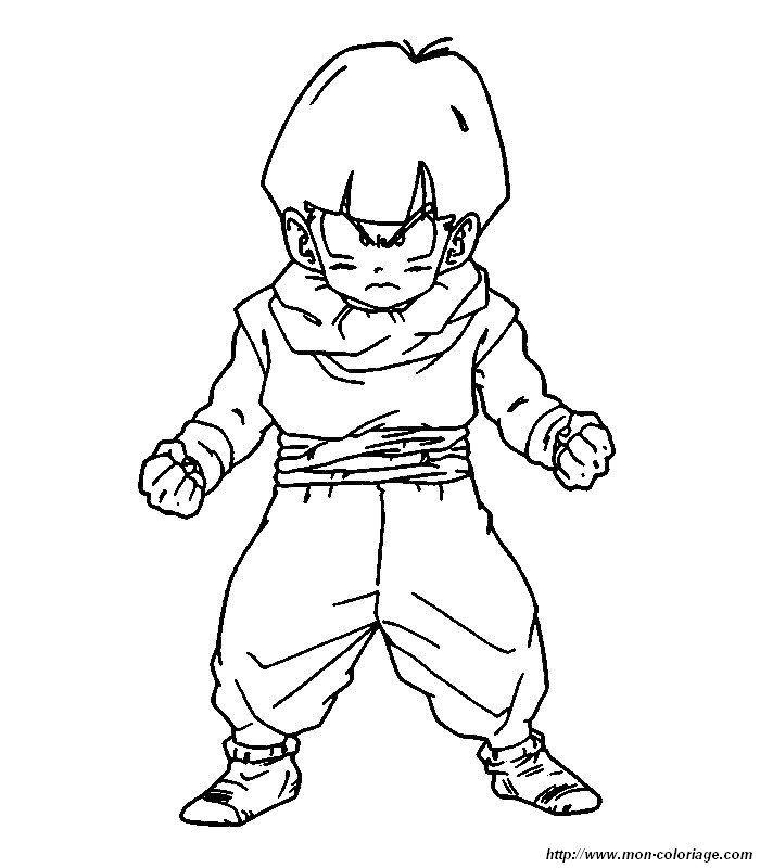 Colorear Dragon Ball Z Dibujo 021 Laminas Sketches