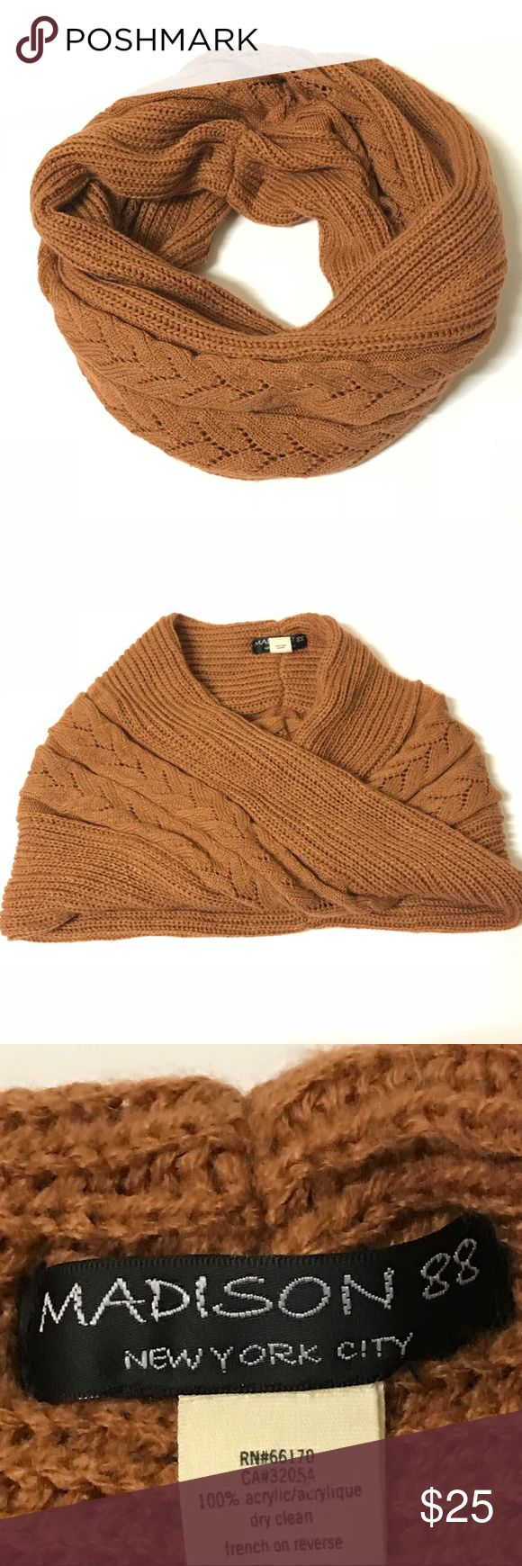Madison 88 For Anthro Chunky Infinity Scarf Madison 88 For Anthropologie Chunky Infinity Scarf. Rust-brown color. One size. Excellent pre-owned condition! Anthropologie Accessories Scarves & Wraps