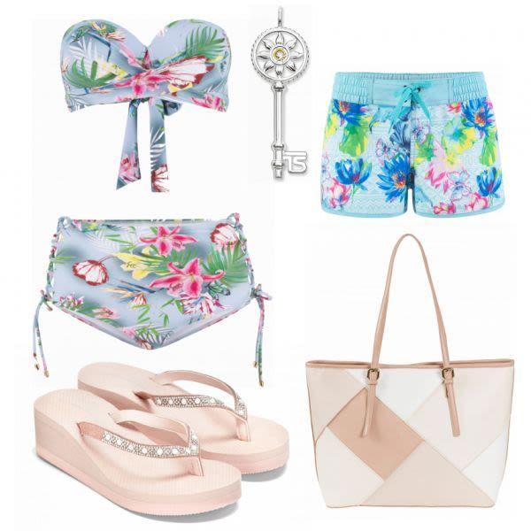 Sommer-Outfits: Bikini in Blau bei FrauenOutfits.de #mode #damenmode #frauenmode…
