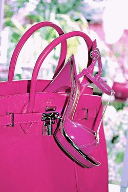 Pink shoes and bag!!!!