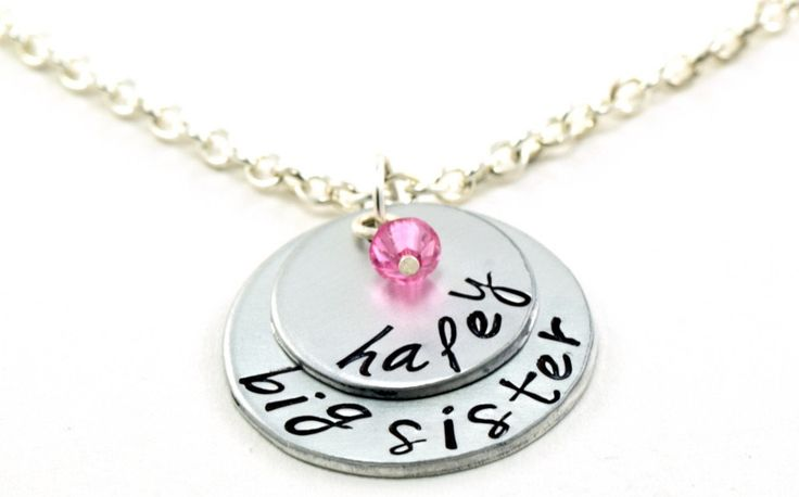 Big Sister Necklace, girls necklace, personalized name, New sibling, Gift for girls, Little sister, big sister jewelry by EmbracetheMoments on Etsy https://www.etsy.com/listing/245853352/big-sister-necklace-girls-necklace