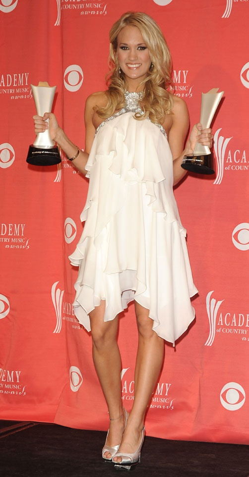 Carrie Underwood takes home Top Female Vocalist and Entertainer of the Year awards at the 44th Annual Academy of Country Music Awards, held at the MGM Grand Garden Arena in Las Vegas on April 5, 2009.