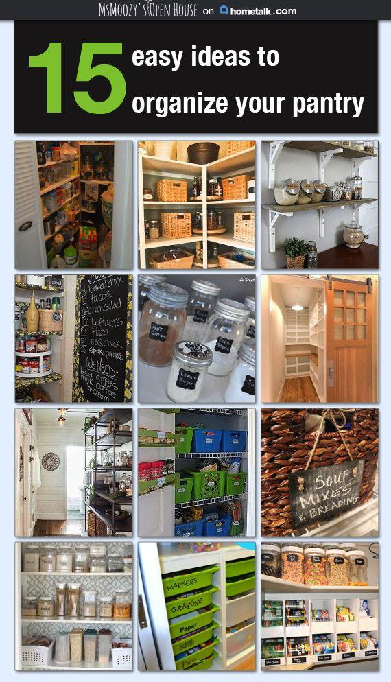 15 Easy Ideas To Organize Your Pantry Organize It
