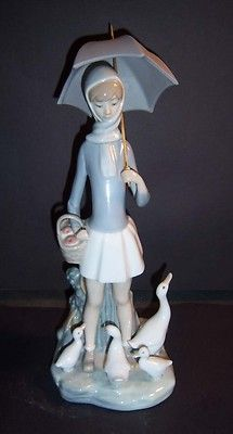 Lladro Girl With Geese