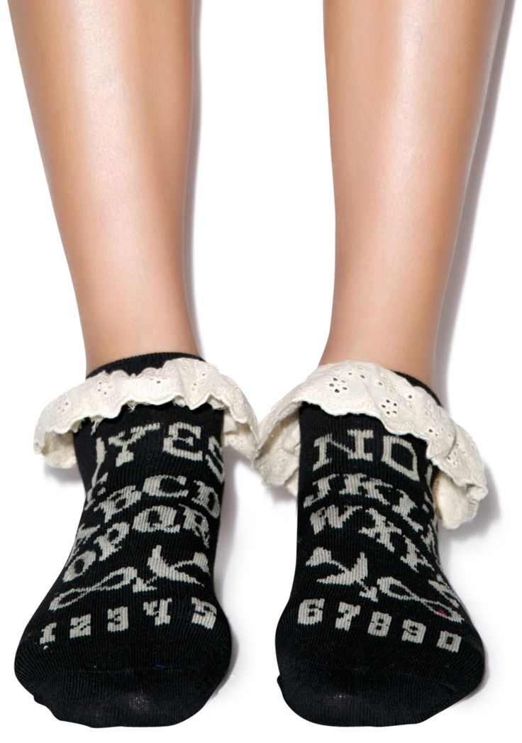Too Fast Ouija Eyelet Ankle Sock | Dolls Kill