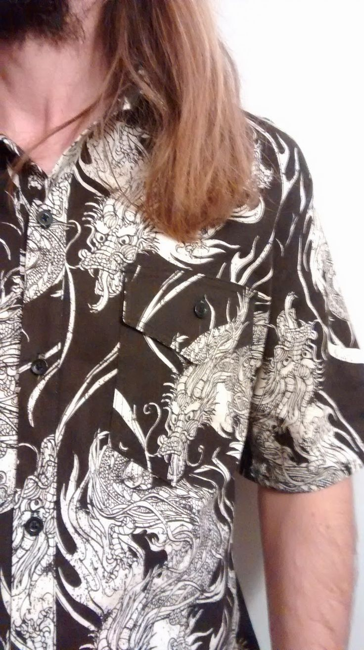 Sewing in the shade: A simple dragon shirt: featuring Year of the Ninja fabric by Scott Jarrard for Riley Blake Designs #yearoftheninja #scottjarrard #rileyblakedesigns