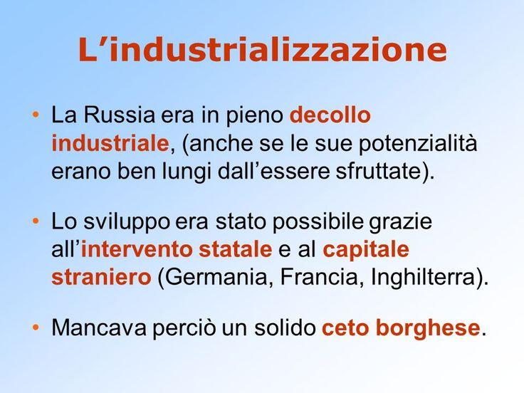 l'industrializzazione della russia