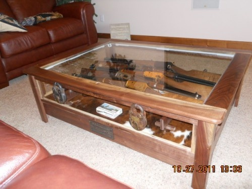 coffee display table rifle and gun storage 70000